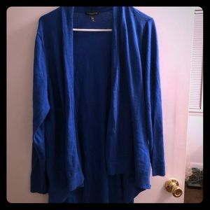 Royal Blue Linen Cotton Long Cardigan